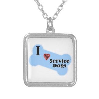 I Love Service Dogs - Blue Bone Design Custom Jewelry