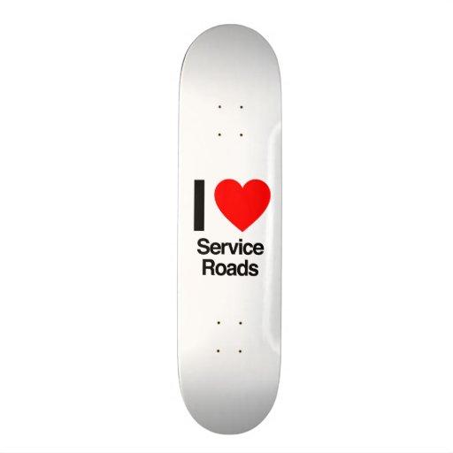 i love service roads skateboard decks