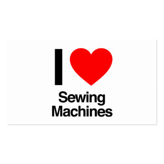 i love sewing machines pack of standard business cards