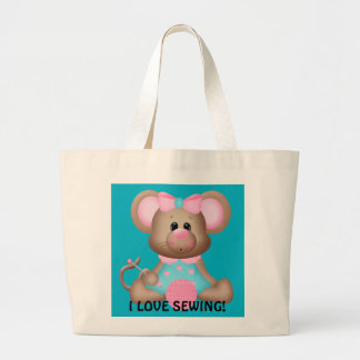 I love sewing mouse tote bag