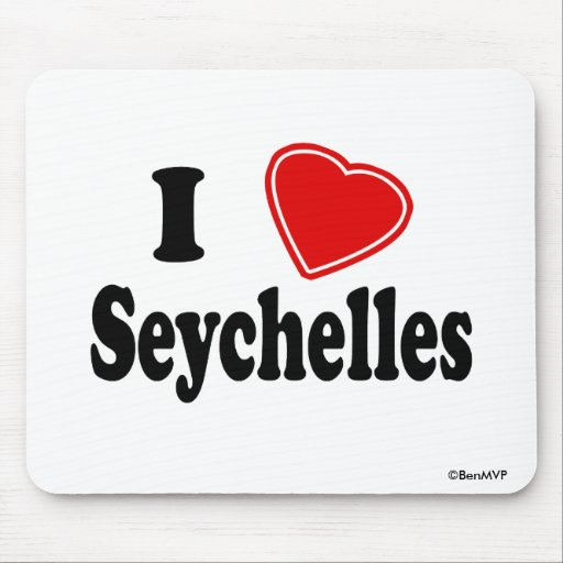 I Love Seychelles Mouse Pad