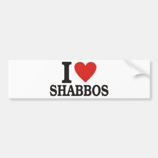 I love Shabbos Bumper Sticker