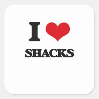 I Love Shacks Square Sticker