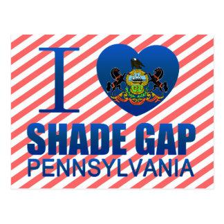I Love Shade Gap, PA Postcard