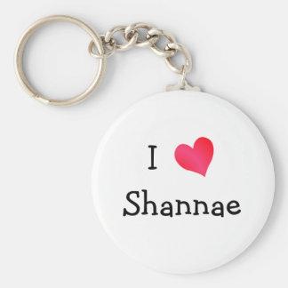 I Love Shannae Basic Round Button Key Ring