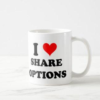 I Love Share Options Coffee Mug