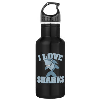 I love sharks 532 ml water bottle