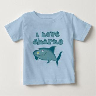 I Love Sharks Baby T-Shirt