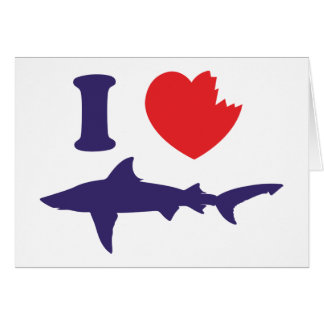 I Love Sharks Card