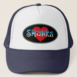 I love Sharks Trucker Hat
