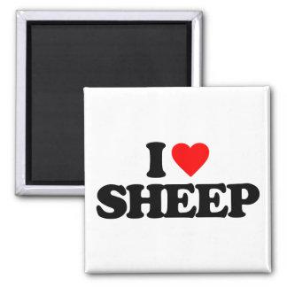I LOVE SHEEP MAGNETS