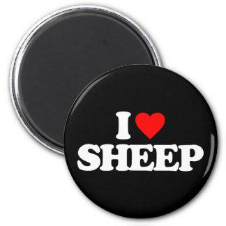 I LOVE SHEEP FRIDGE MAGNETS