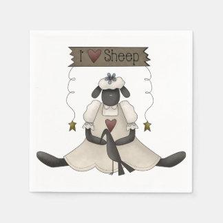 I Love Sheep Paper Napkins Disposable Napkin