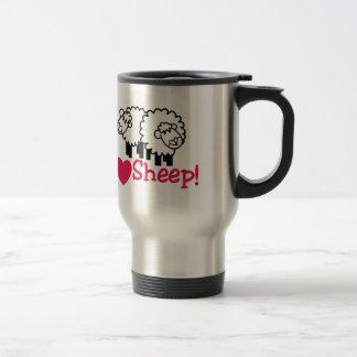 I Love Sheep Travel Mug