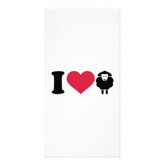 I love Sheeps Customized Photo Card