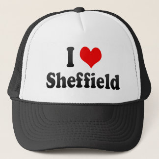 I Love Sheffield, United Kingdom Trucker Hat