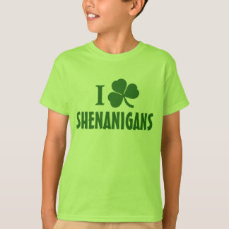 I Love Shenanigans Kids St. Patrick's Day T-Shirt