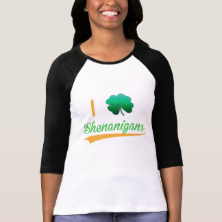 i love shenanigans lucky green st patrick's day T-Shirt
