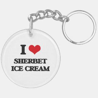 I Love Sherbet Ice Cream Acrylic Key Chain