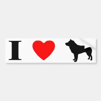 I Love Shiba Inus Bumper Sticker