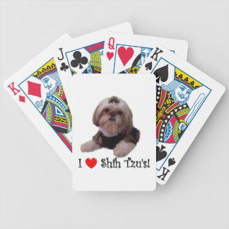I Love Shih Tzu Bicycle Playing Cards
