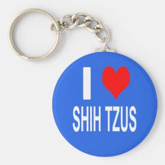 I Love Shih tzus Keychain