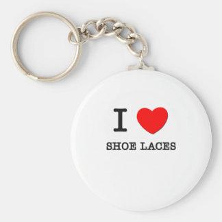 I Love Shoe Laces Basic Round Button Key Ring