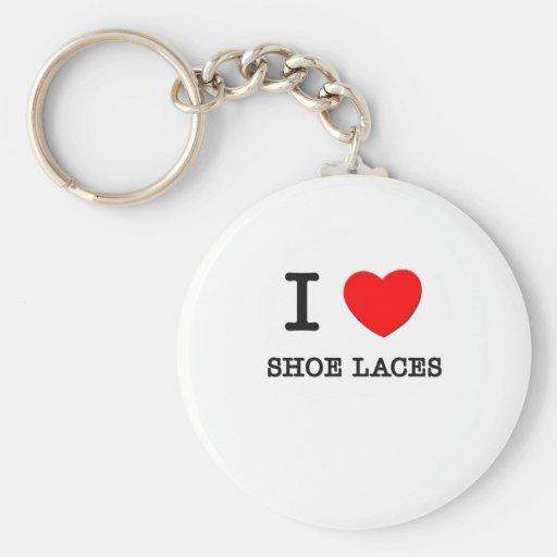 I Love Shoe Laces Keychains