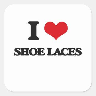 I Love Shoe Laces Square Sticker