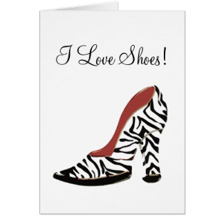 I love Shoes!  $2.45 Stationery Note Card