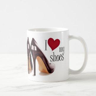 I love shoes basic white mug