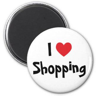 I Love Shopping 6 Cm Round Magnet