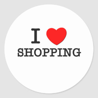 I Love Shopping Stickers