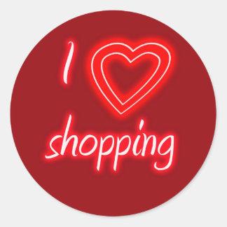I Love Shopping Sticker