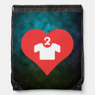 I Love Short Sleeve Shirts Icon Drawstring Backpack