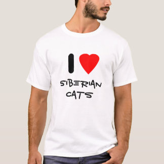 I Love Siberian Cats T-Shirt