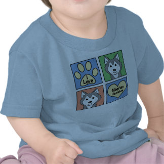 I Love Siberian Huskies Shirt