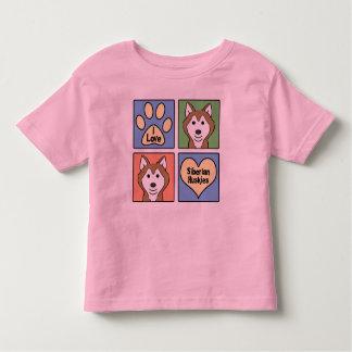 I Love Siberian Huskies Toddler T-Shirt