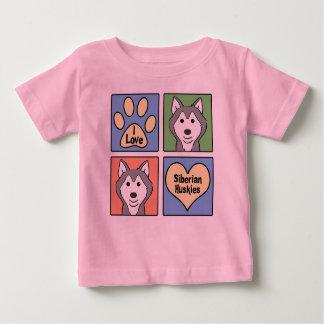I Love Siberian Huskies Tshirt