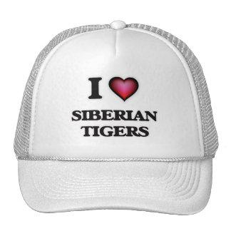 I Love Siberian Tigers Cap