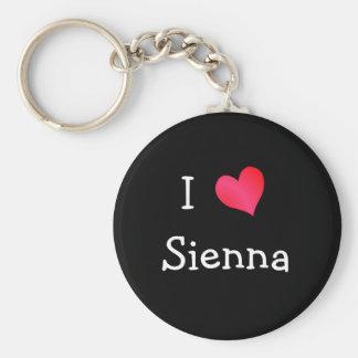 I Love Sienna Basic Round Button Key Ring