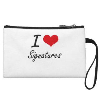 I Love Signatures Wristlet Purse