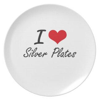 I Love Silver Plates