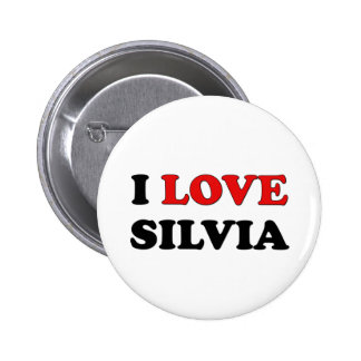 I Love Silvia Buttons