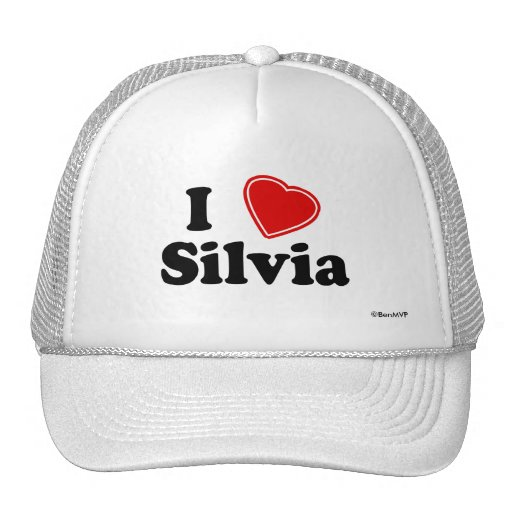 I Love Silvia Mesh Hat