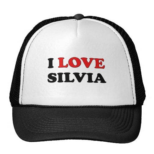 I Love Silvia Trucker Hats
