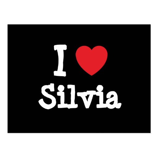 I love Silvia heart T-Shirt Post Cards