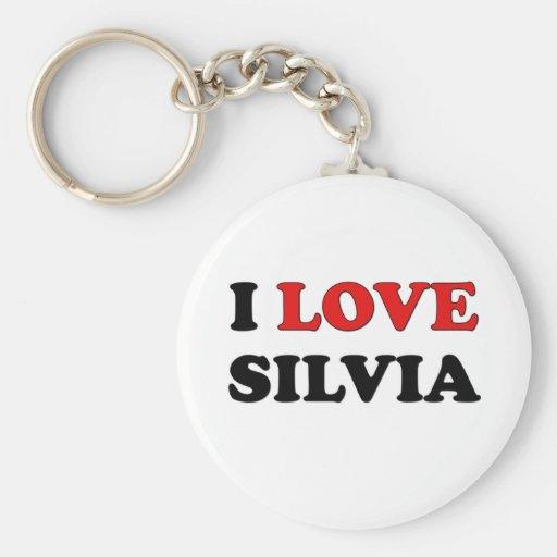 I Love Silvia Key Chain
