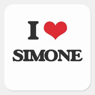 I Love Simone Square Sticker
