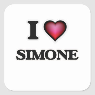 I Love Simone Square Sticker
